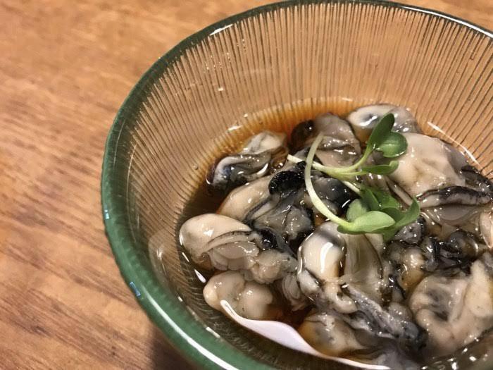 牡蠣の酢醤油